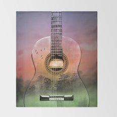 GUITAR MUSIC  Throw Blanket