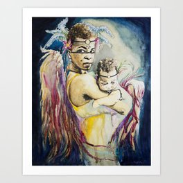 Mother Mary. Tribal Edition. Art Print