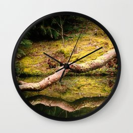 Reflections on the pond Wall Clock
