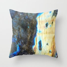 Labradorite Crystal Throw Pillow