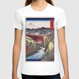 Hiroshige - 36 Views of Mount Fuji (1858) - 32: Dog Eye Pass in Kai Province T-shirt