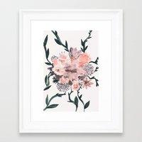 kpop Framed Art Prints featuring Summer Flowers by Georgiana Paraschiv