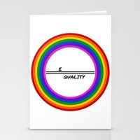 equality Stationery Cards featuring Equality by LukaG