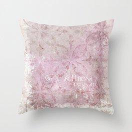 softness befalls her Throw Pillow