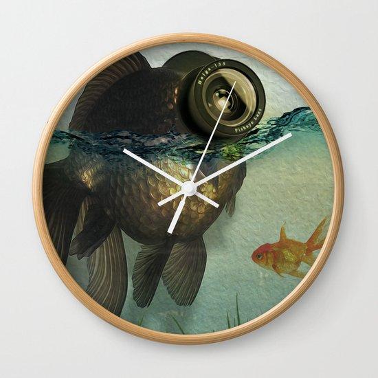 Fish eye lens Wall Clock