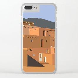 Mexico Taos Pueblo Clear iPhone Case