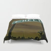 hell Duvet Covers featuring Hell by Litew8