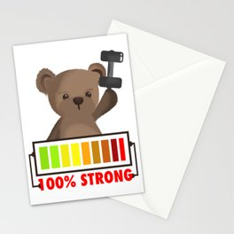 strong Teddy Stationery Cards