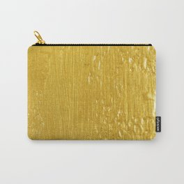 Luxury Solid Gold Paint Texture Carry-All Pouch