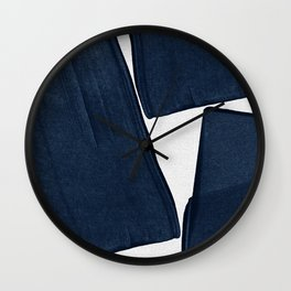 Minimalist Painting Blue III, Mid Century Modern Wall Clock