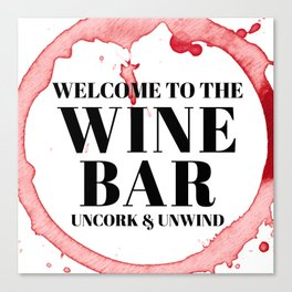 wine bar no. 1 Canvas Print