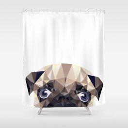 Pug Diamonds Shower Curtain