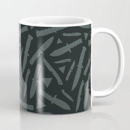 Survival Knives Pattern - Midnight Forest Coffee Mug