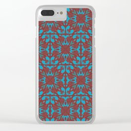 Abstract flower pattern 6b ver. 2 Clear iPhone Case