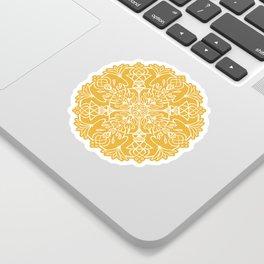 Lotus Mandala - Sunny Yellow Sticker