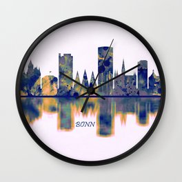Bonn Skyline Wall Clock