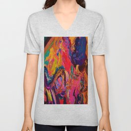 Color and Texture Unisex V-Neck