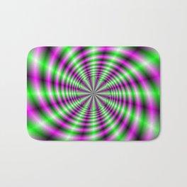 Neon Spinning Wheel Bath Mat