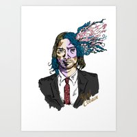 kurt cobain Art Prints featuring Kurt Gore Cobain by Alexalco5