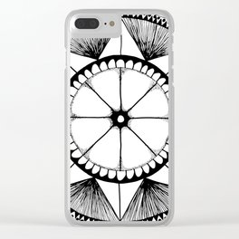 Grapefruit Fiesta Clear iPhone Case