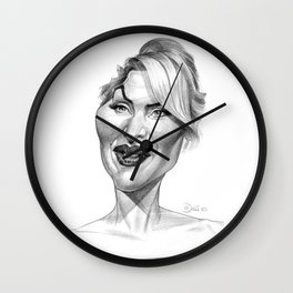 Kate Winslet Wall Clock