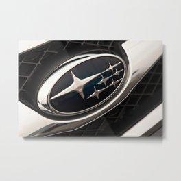 Subaru Logo Metal Print