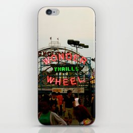 Wonder Wheel at Coney Island iPhone Skin