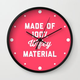 100% Wifey Material Funny Quote Wall Clock