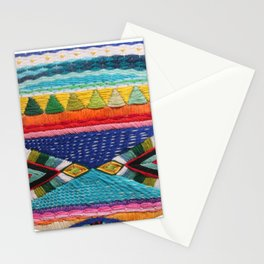 Rainbow Tribal Embroidery Stationery Cards