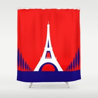 france Shower Curtains featuring FRANCE by Marcus Wild