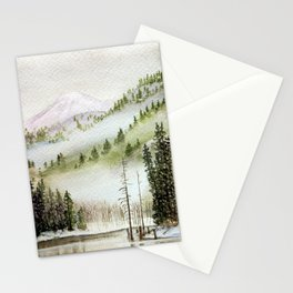 Mount Rainier Fog Stationery Cards