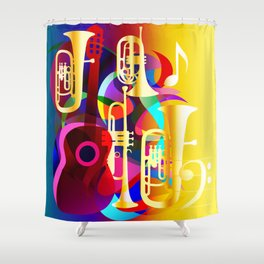 Guitar Shower Curtains Society6