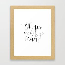 NURSERY WALL ART, Oh Yes You Can, Motivational Poster,Inspirational Quote,Nursery Decor,Kids Gift,Be Framed Art Print
