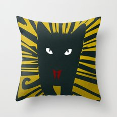 Evil Cat Throw Pillow