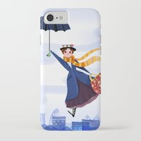 mary poppins iPhone & iPod Cases featuring Mary Poppins by giovanamedeiros