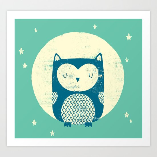 The Moon Owl Art Print