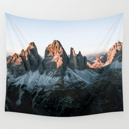 Dolomites sunset panorama - Landscape Photography Wall Tapestry