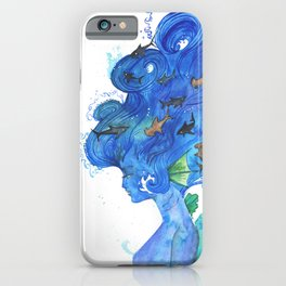 The Girl With The Shark Hair iPhone Case