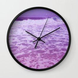 Pink waves Wall Clock