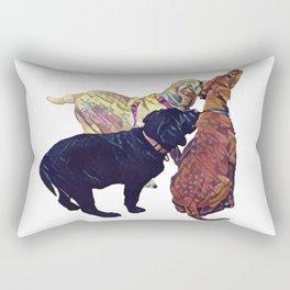 Three Amigos II Rectangular Pillow