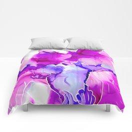 Purple Posies Comforters