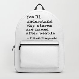 You'll understand why storms are named after people Backpack