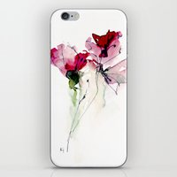 poppy iPhone & iPod Skins featuring poppy by annemiek groenhout