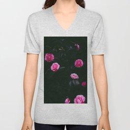 Pink Flowers (Color) Unisex V-Neck