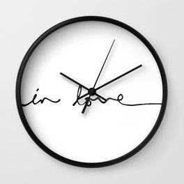 in love Wall Clock