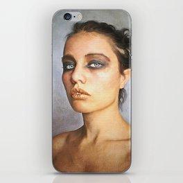 ' Sorrow '  classic digital oil emotive lady portrait painting   iPhone Skin