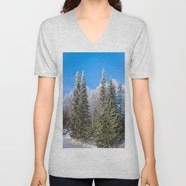 Frozen forest Unisex V-Neck