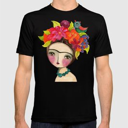 Frida And The Bird In Her Hair T-shirt