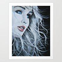 jennifer lawrence Art Prints featuring Jennifer Lawrence  by BrandonScott