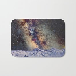 Sagitario, Scorpio and the star Antares over the hight mountains Bath Mat
